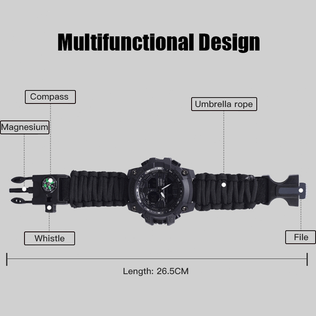 Archon Nighttime Multifunctional Survival Tactical Watch