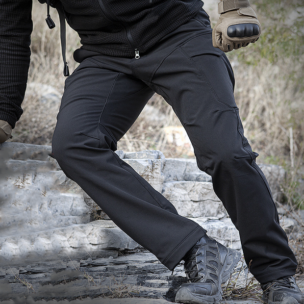Archon Softshell Waterproof Tactical Pants for Winter Black