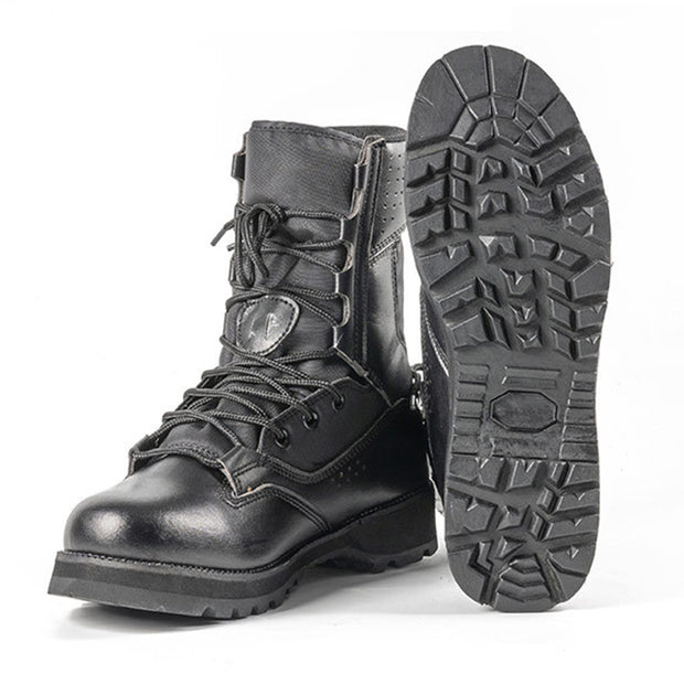 Tiger Strike Leather Combat Boots