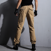 WE Army Relaxed Fit Khaki Casual Cargo Pants