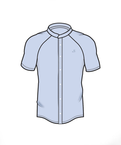 Performance Short Sleeve Shirt - Baby Blue
