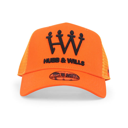 Orange/Black Trucker Hat