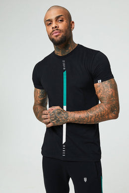 Signature T-shirt - Black/White/Green