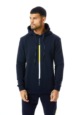 Stripe Signature Hoodie - Navy/Yellow