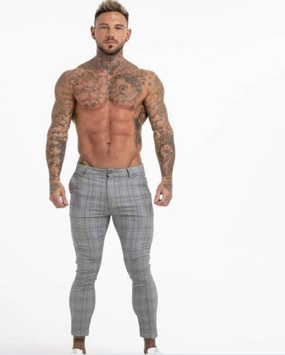 EVOKE - CHECK GREY PANTS