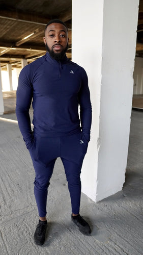 Navy Tapered Bottom Joggers