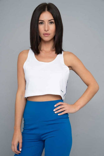Lorella Cotton Cropped Vest – White