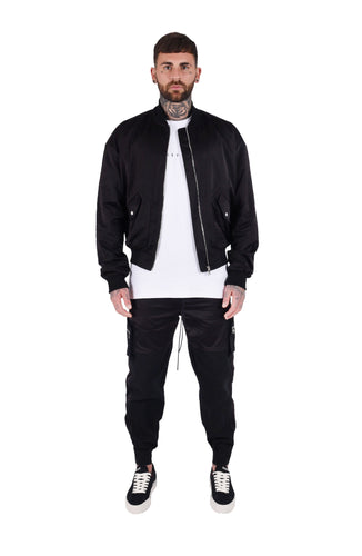 SIGNATURE BOMBER JACKET - BLACK