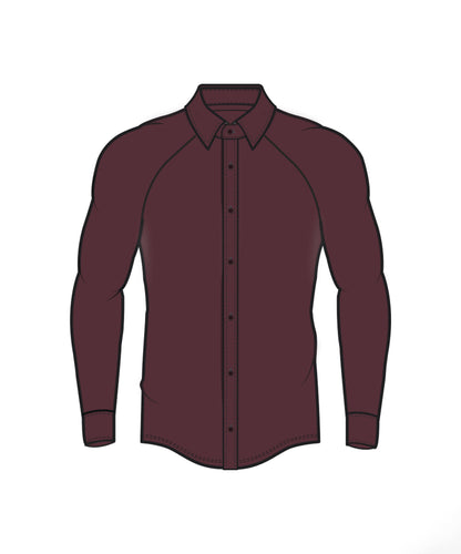 Performance Dress Shirt - Burgundy
