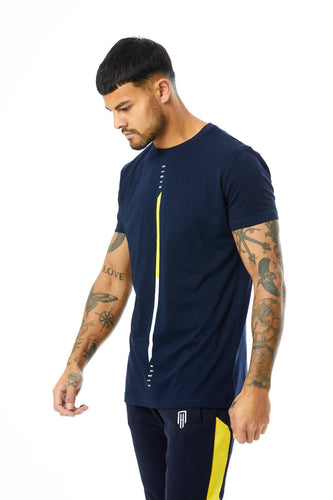Signature T-shirt - Yellow/Navy