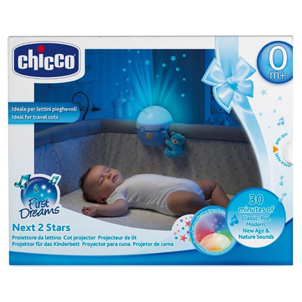 Chicco Next 2 Stars Cot Projector - Happy Baby