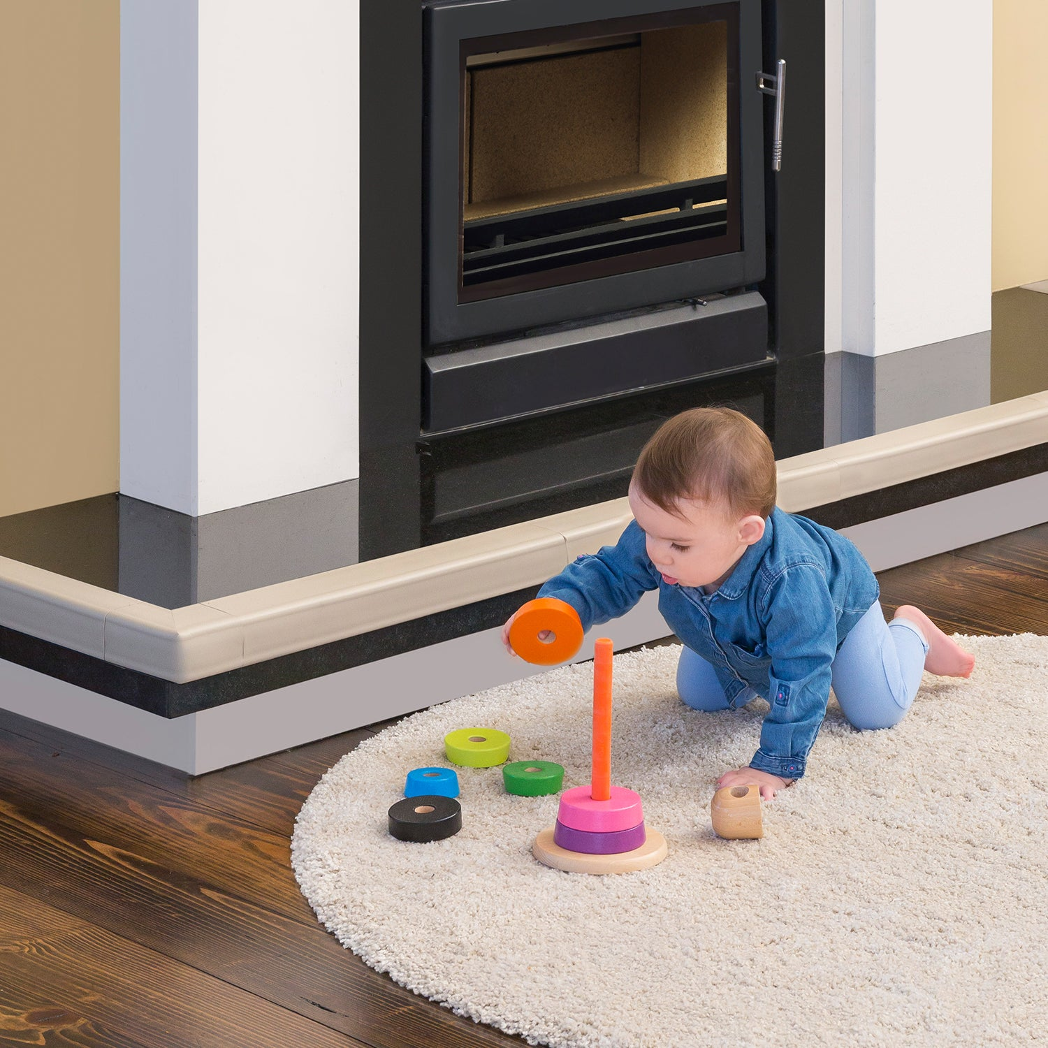 Fireplace Edge Guard - Happy Baby