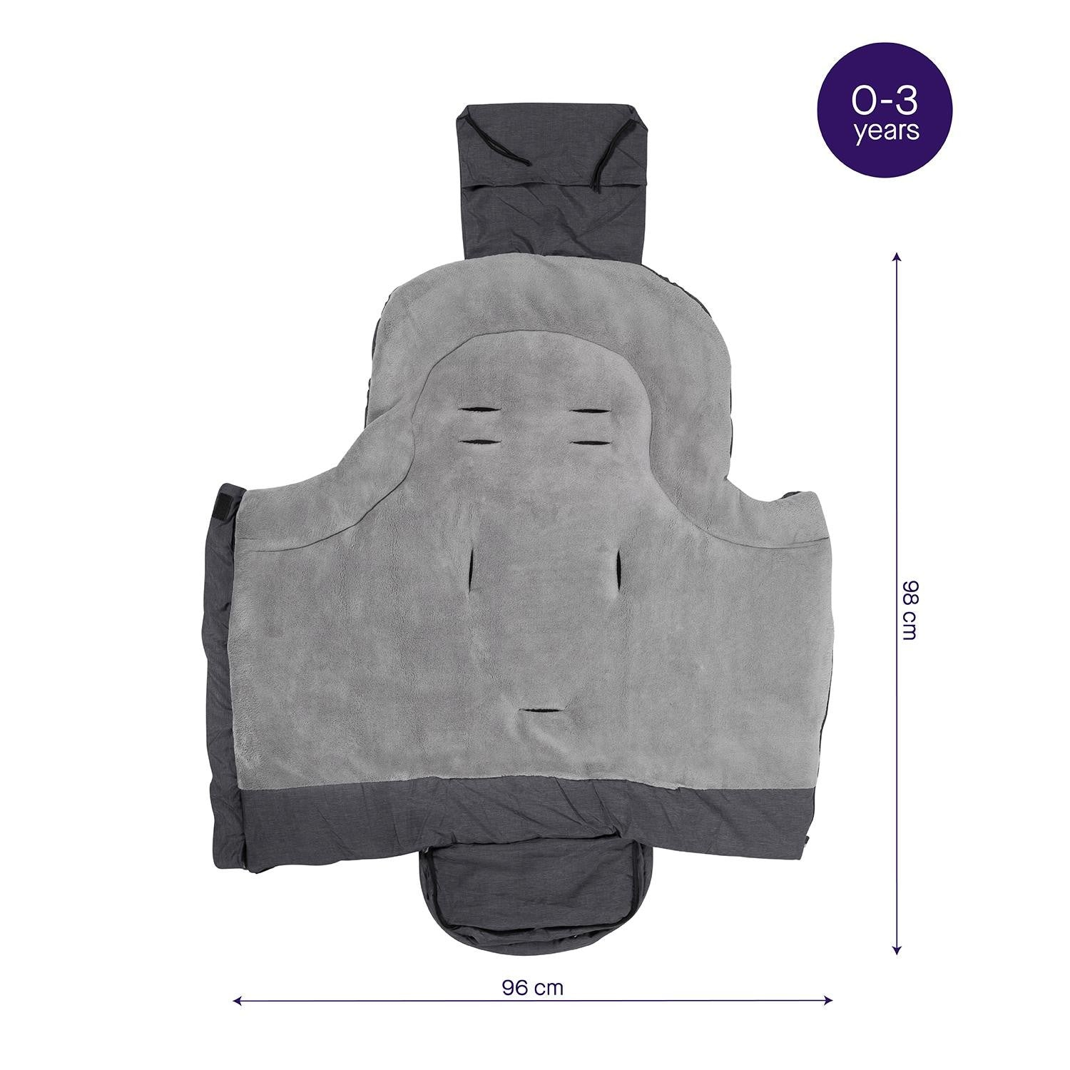 Clevamama Universal Grey Footmuff - Happy Baby