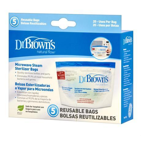 Dr Brown's Microwave Steam Steriliser Bags - Happy Baby