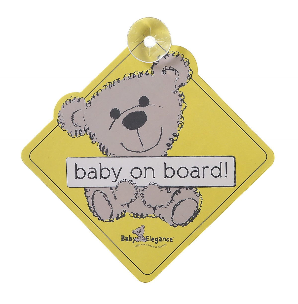 Baby Elegance Baby On Board Sign - Happy Baby