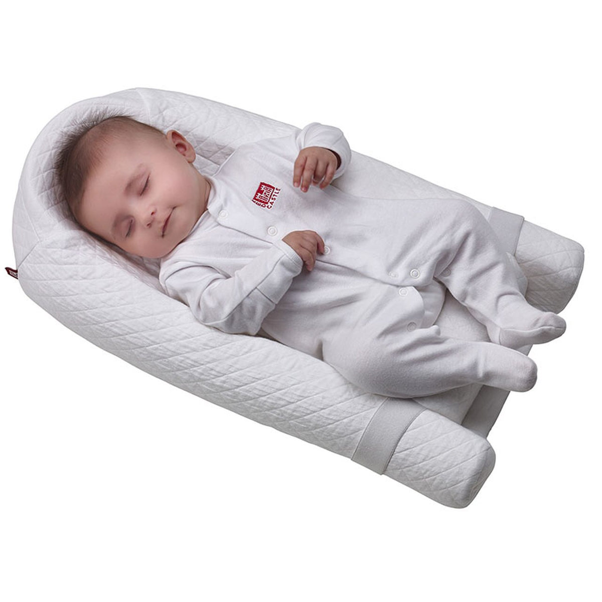 Redcastle Ergonomic Sleep Positioner - White - Happy Baby