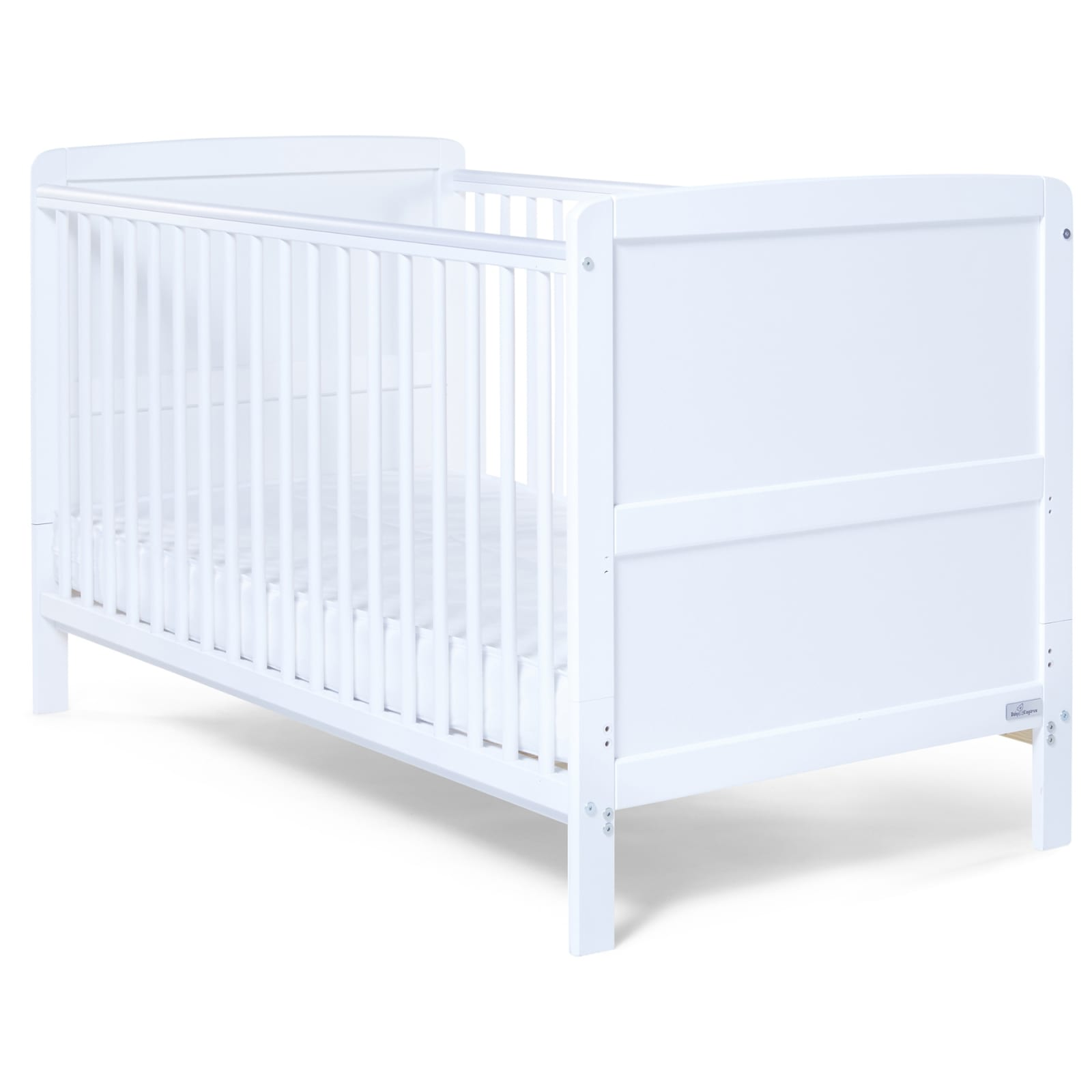 Travis Cot Bed White - Happy Baby