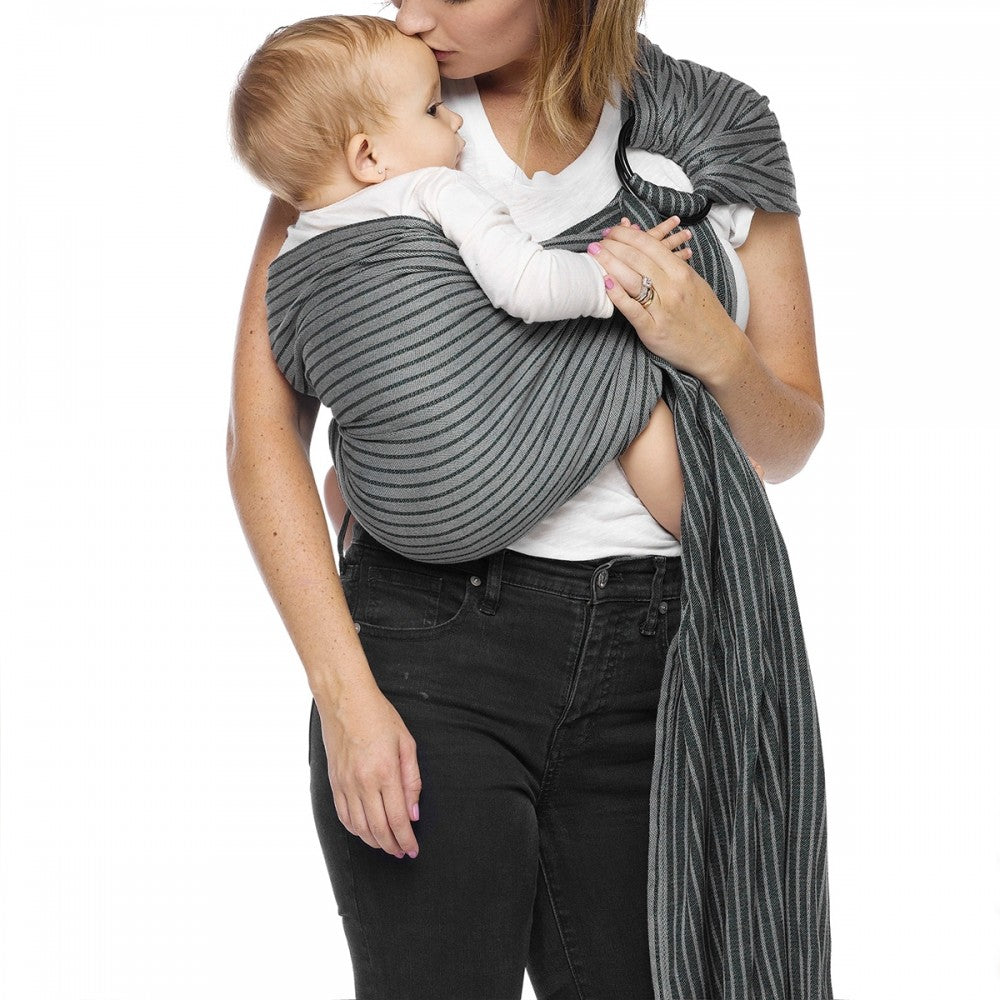 Moby Ring Sling - Jet Ribbons - Happy Baby
