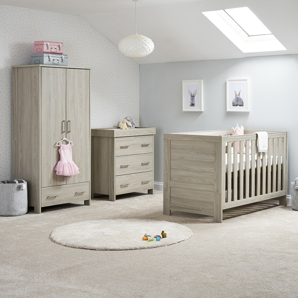 Nika 3 Piece Room Set - Grey Wash - Happy Baby