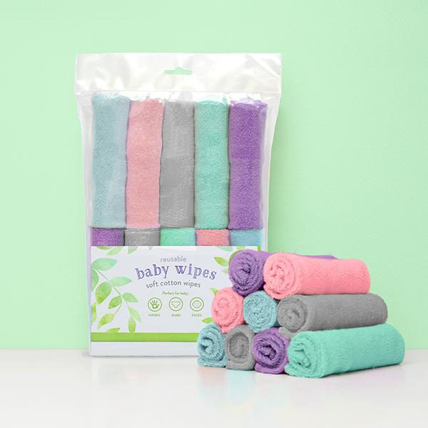 Bambino Mio Reusable Cloth Baby Wipes - Happy Baby