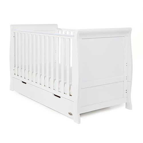 Stamford Sleigh Classic Cot Bed White - Happy Baby