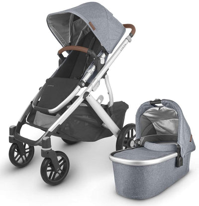 UPPAbaby Vista V2 Twin Bundle - Happy Baby