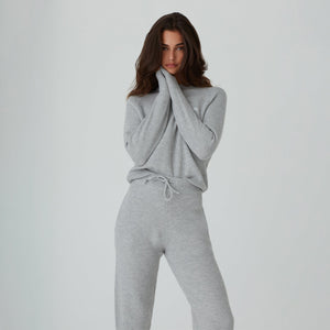 Kith Women Beverly Crewneck - Pavement Heather