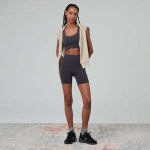 Kith Women Brie Interlock Bra Top - Battleship