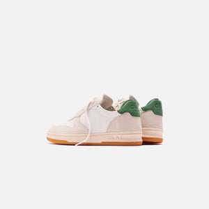 Clae Malone Leather Sneaker - White / Smoke Comfrey