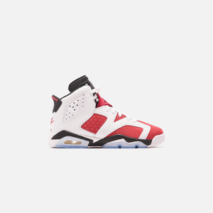 Nike Grade School Air Jordan 6 Retro - White / Carmine / Black
