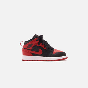 Nike Pre-School Air Jordan 1 Mid BP - Black / Gym Red / White