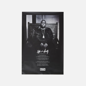 Kith for The Notorious B.I.G Life After Death Poster - Black