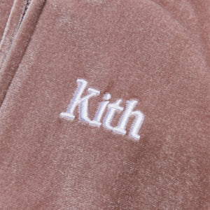 Kith Kids Baby Velour Coverall - Cinder