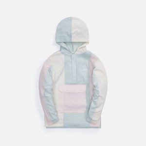 Kith Kids Seersucker Blocked Harrison Hoodie - Blue
