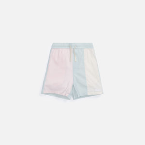 Kith Kids Seersucker Blocked Shorts - Teal / Multi