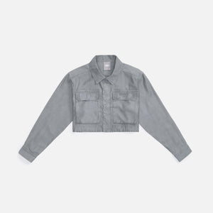 Kith Women Lina Cropped Shacket - Plaster