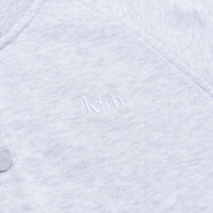 Kith Women Hillside Henley Hoodie - Light Heather Grey