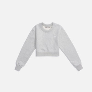 Kith Women Lynn Cropped Crew - Pavement Heather