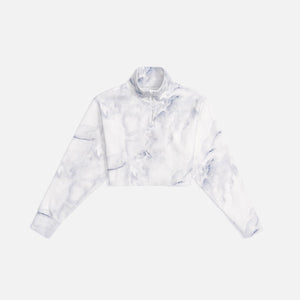 Kith Women Marble Rae Interlock Quarter-Zip Pullover - Carrara