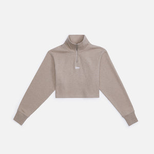 Kith Women Rae Quarter Zip II - Coffee Heather
