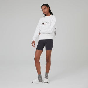 Kith Women Landscape Serif Embroidered Asher Crew - White