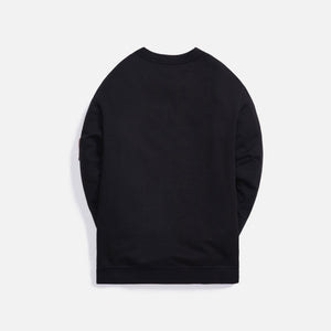 Maharishi Blank Patch Organic Cotton Crew Sweat - Black