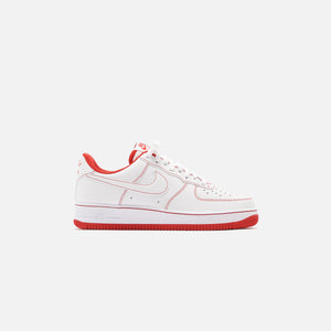 Nike Air Force 1 Stitch - White / University Red