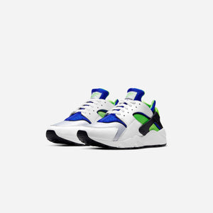 Nike Air Huarache - White / Scream Green / Royal Blue