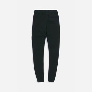 Stone Island Cotton Fleece Garment Dyed Cargo Pants - Black