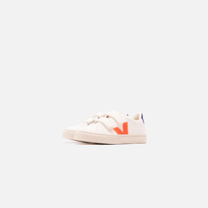 Veja Junior Esplar Velcro - White / Orange / Cobalt