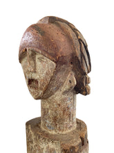 "Load image into Gallery viewer, Rare African ambete reliquary Statue  Gabon on a custom wood stand 30.5"" h"