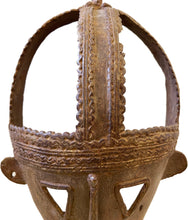 "Load image into Gallery viewer, #3042 Superb African Senufo Bronze mask I.Cost 12.5"" H"