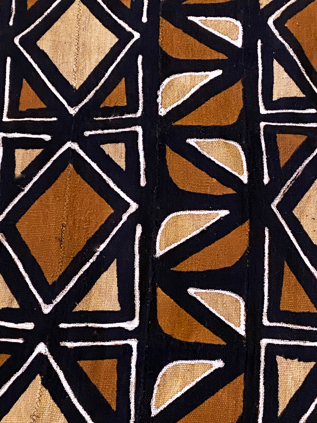 Brown/Mustard/Black/White Mud Cloth Mali 68