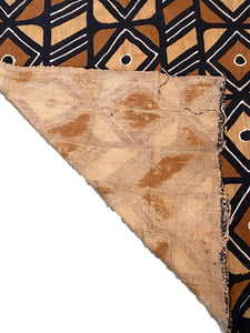"African Bogolan Mud Cloth Textile 62 "" by 39"""